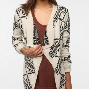 Staring at Stars Tribal Print Open Sweater
